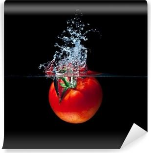 Zelfklevend Fotobehang Tomaat splash
