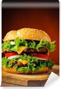 Zelfklevend Fotobehang Traditionele zelfgemaakte hamburger