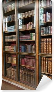 Canvas Victoriaanse bibliotheek boekenkast met glazen deuren ...