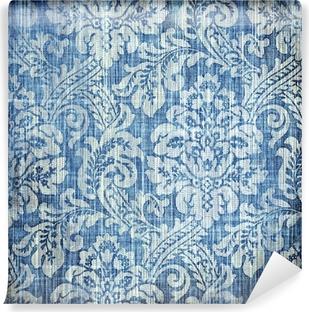 Zelfklevend Fotobehang Vintage denim textuur met elegante patronen