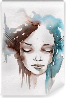 Zelfklevend Fotobehang Winter, koude portret