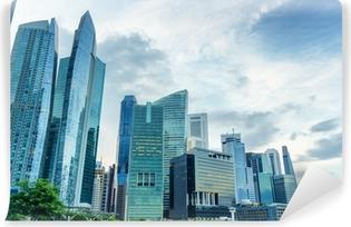 Zelfklevend Fotobehang Wolkenkrabbers in het financiële district van Singapore