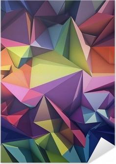 Zelfklevende Poster Abstracte geometrische achtergrond.