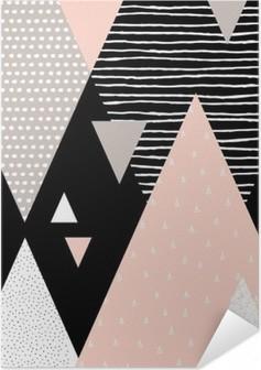 Zelfklevende Poster Abstracte Geometrische Landschap