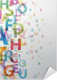 Zelfklevende Poster Abstracte Kleur alfabet op een witte achtergrond # Vector