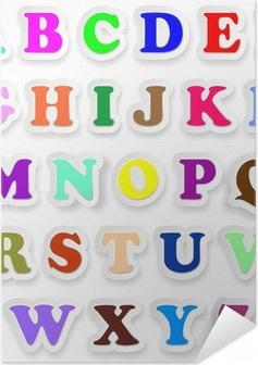 Zelfklevende Poster Alfabeto Lettere Maiuscolo Stickers Alfabet Hoofdletters