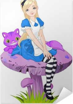 Zelfklevende Poster Alice in Wonderland