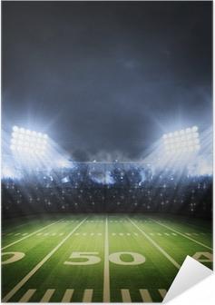 Zelfklevende Poster American Football stadion