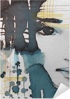 Zelfklevende Poster Aquarel illustratie