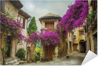 Zelfklevende Poster Art prachtige oude centrum van de Provence
