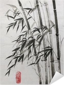 Zelfklevende Poster Bamboe is een symbool van een lang leven en welvaart