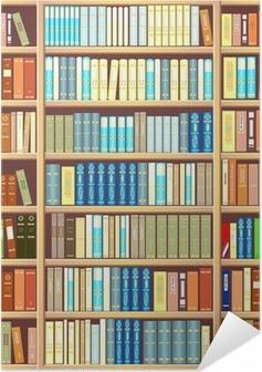Zelfklevende Poster Boekenkast vol boeken