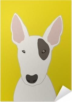 Zelfklevende Poster Bull terrier