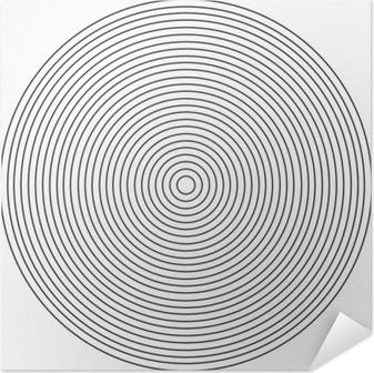 Zelfklevende Poster Concentrisch cirkelelement op een witte achtergrond