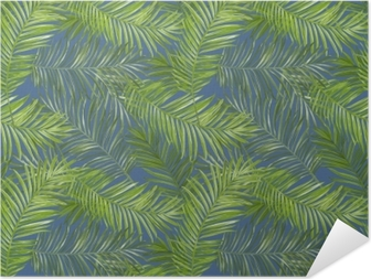 Zelfklevende Poster De tropische Achtergrond van Bladeren