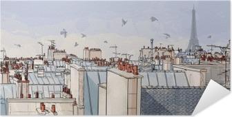 Zelfklevende Poster Frankrijk - Parijs daken