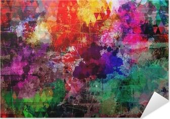 Zelfklevende Poster Grunge stijl abstracte aquarel achtergrond