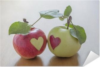 Zelfklevende Poster Herfst liefde.