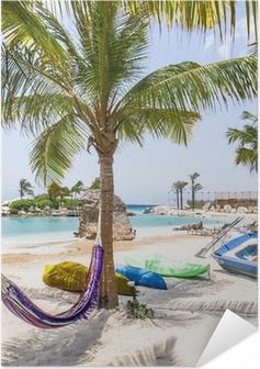 Zelfklevende Poster Het mooiste strand van Curaçao Caroibbean
