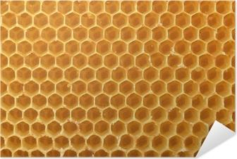 Zelfklevende Poster Honingraat achtergrond
