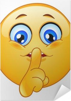 Zelfklevende Poster Hush emoticon