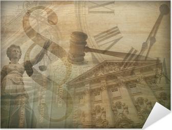 Zelfklevende Poster Justitie Collage