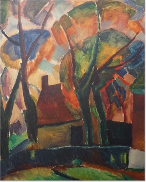 Zelfklevende Poster Leo Gestel - Farma v Beemsteru - Reproductions
