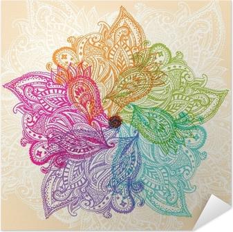 Zelfklevende Poster Mandala symbool