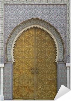 Zelfklevende Poster Marokkaanse entree (3)