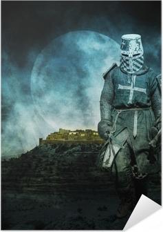 Zelfklevende Poster Middeleeuwse kruisvaarder