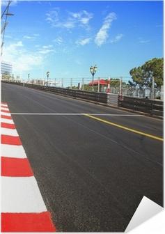 Zelfklevende Poster Monaco, Monte Carlo. Asfalt Race, Grand Prix Circuit