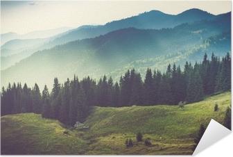 Zelfklevende Poster Mooie zomer berglandschap