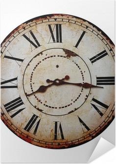 Zelfklevende Poster Oude klok