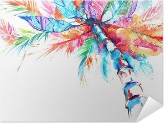 Zelfklevende Poster Palm