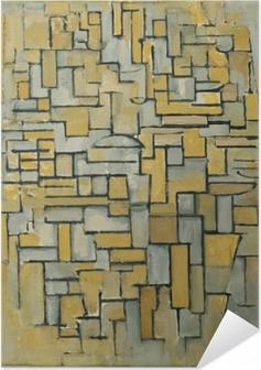 Zelfklevende Poster Piet Mondriaan - Compositie