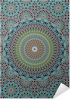 Zelfklevende Poster Razilië Moorse Naadloze Patroon