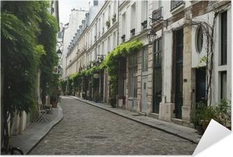 Zelfklevende Poster Ruelle parisienne