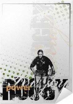 Zelfklevende Poster Rugby achtergrond 2