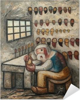 Zelfklevende Poster Tadeusz Makowski - Obuvník