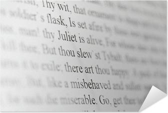 Tekst Van Shakespeare Drama Romeo En Julia Op Zwart En Wit