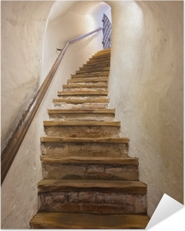 Zelfklevende Poster Trappen in Kasteel Kufstein - Oostenrijk