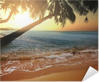 Zelfklevende Poster Tropisch beach