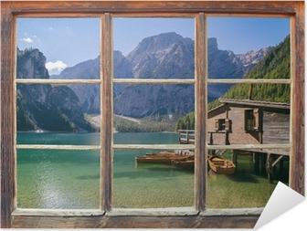 Zelfklevende Poster Uitzicht vanuit het raam