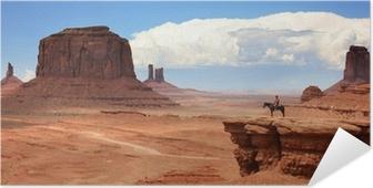 Zelfklevende Poster USA - Monument Valley