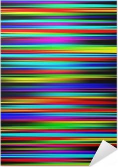Zelfklevende Poster Veelkleurige levendige abstracte afgestudeerd strepenpatroon.
