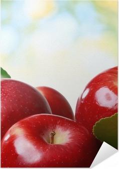 Zelfklevende Poster Verse appelen