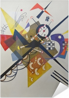 Zelfklevende Poster Wassily Kandinsky - Op wit II