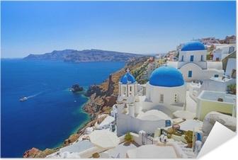 Zelfklevende Poster Witte architectuur in Santorini