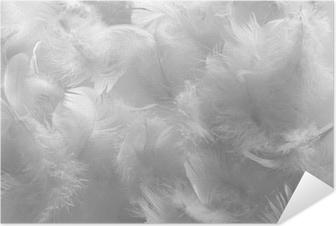 Zelfklevende Poster Witte veren