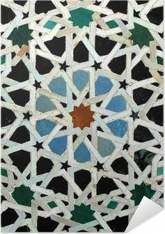 Zelfklevende Poster Zelliges (Fès, Maroc)